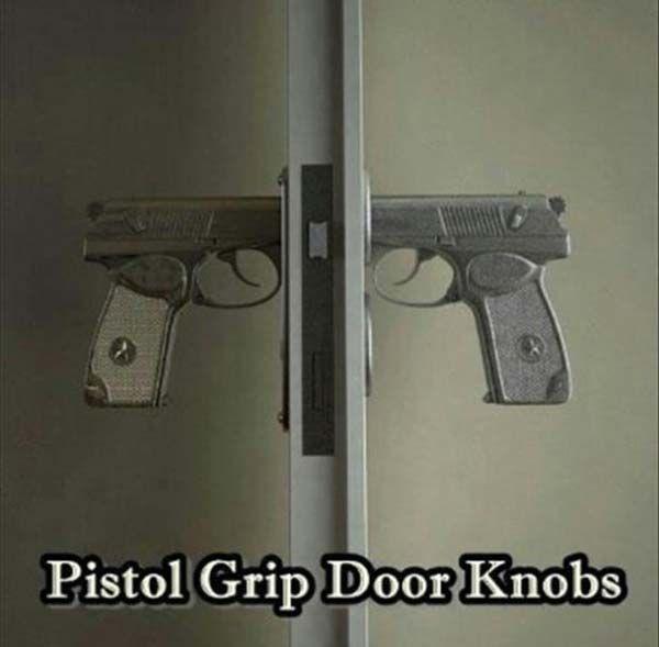 PISTOL DOORKNOBS