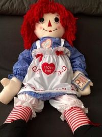 """Raggedy Ann"" cloth doll"