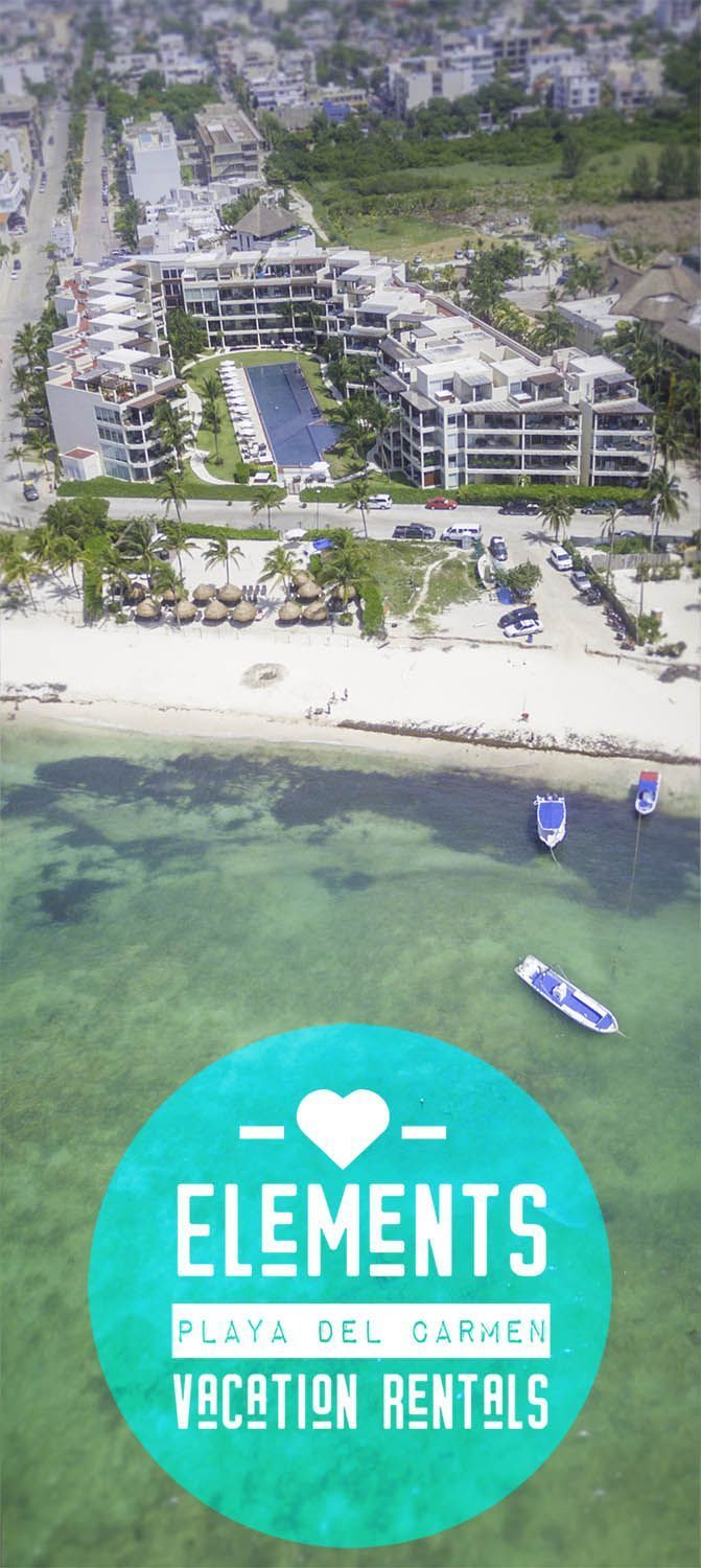 Playa del Carmen is our go to Mexico getaway spot. Elements by Bric Rentals is the BEST vacation rental in Playa del Carmen here's why: right on the beach, close to 5th Ave, epic views, huge pool, and more! #PlayadelCarmen #RivieraMaya #Mexico #Caribbean