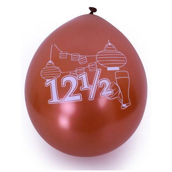 Ballonnen met 12,5 jaar opdruk