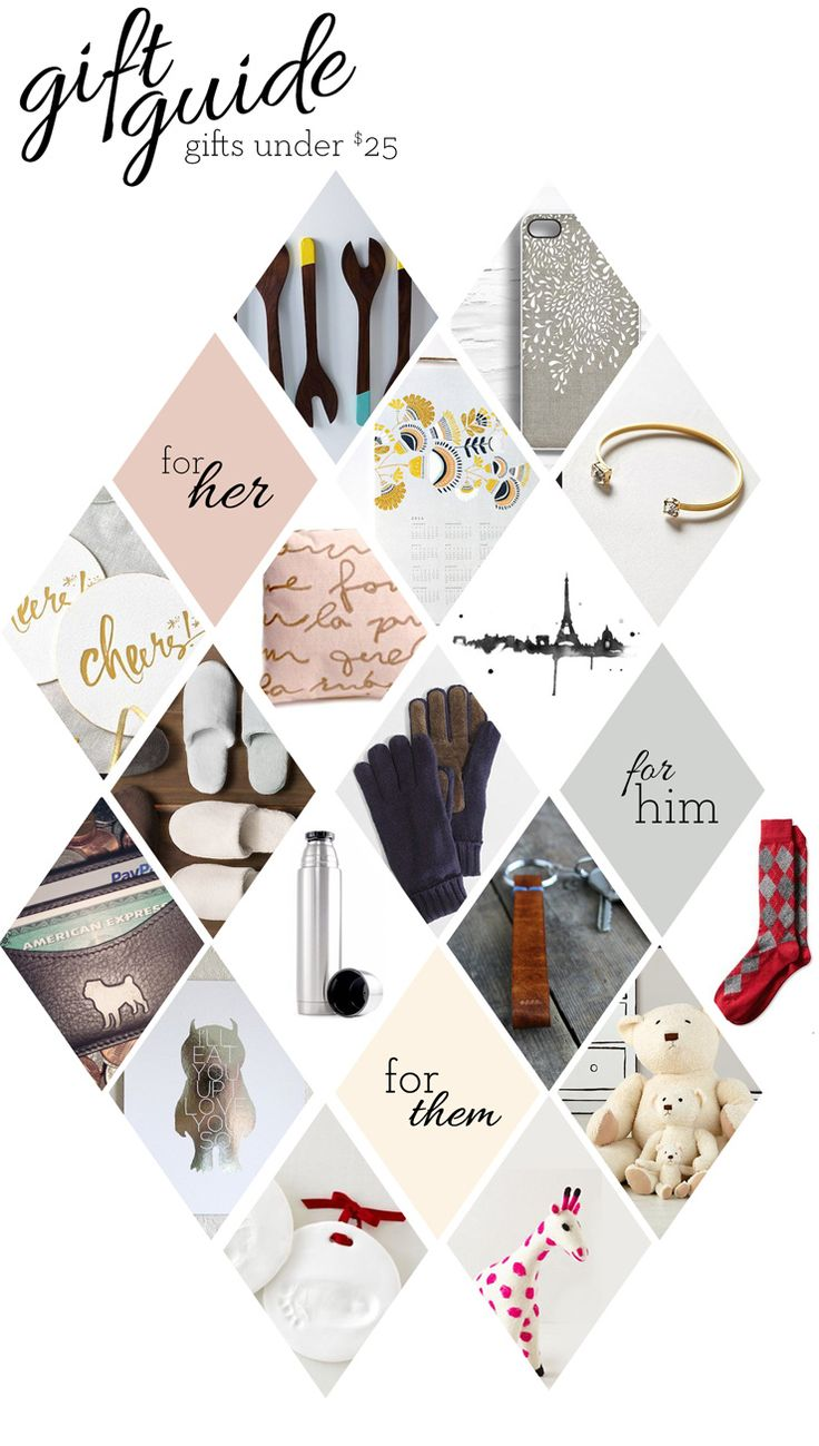 A holiday gift guide to hopefully inspire those last minute online shopping adventures...and they are all items that are under $25!                                                                                                                                                                                 More