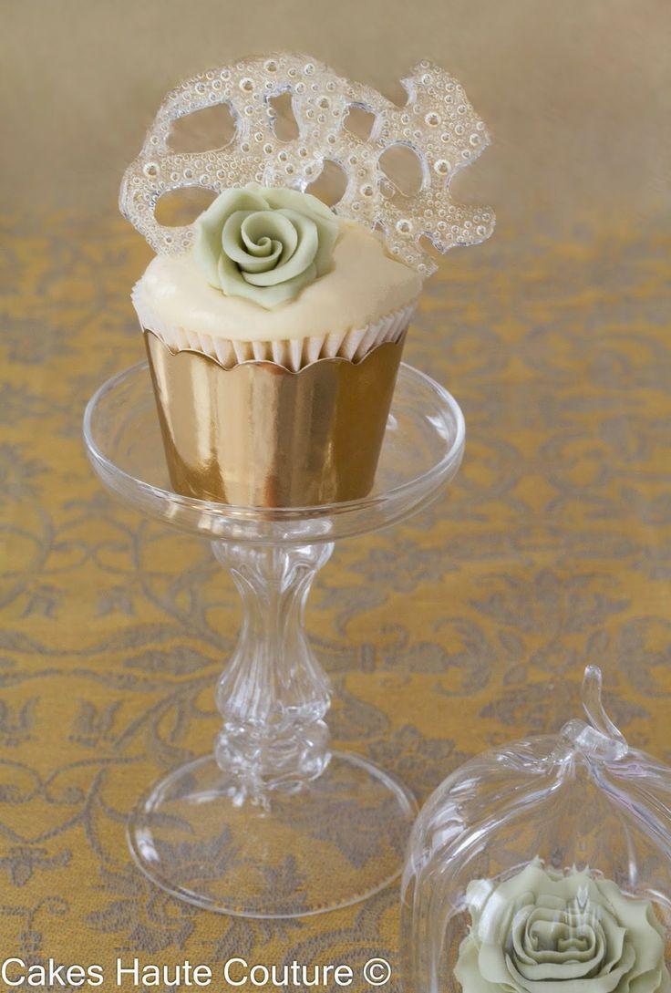 Piña colada cupcake frosted with piña colada mascarpone