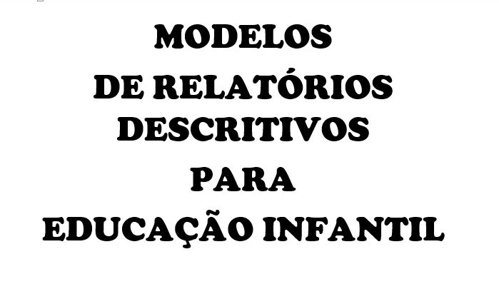 Recebi pedidos de modelos de relatórios para a Educação Infantil. Segue abaixo alguns modelos que encontrei na internet.   Baixe outros mod...