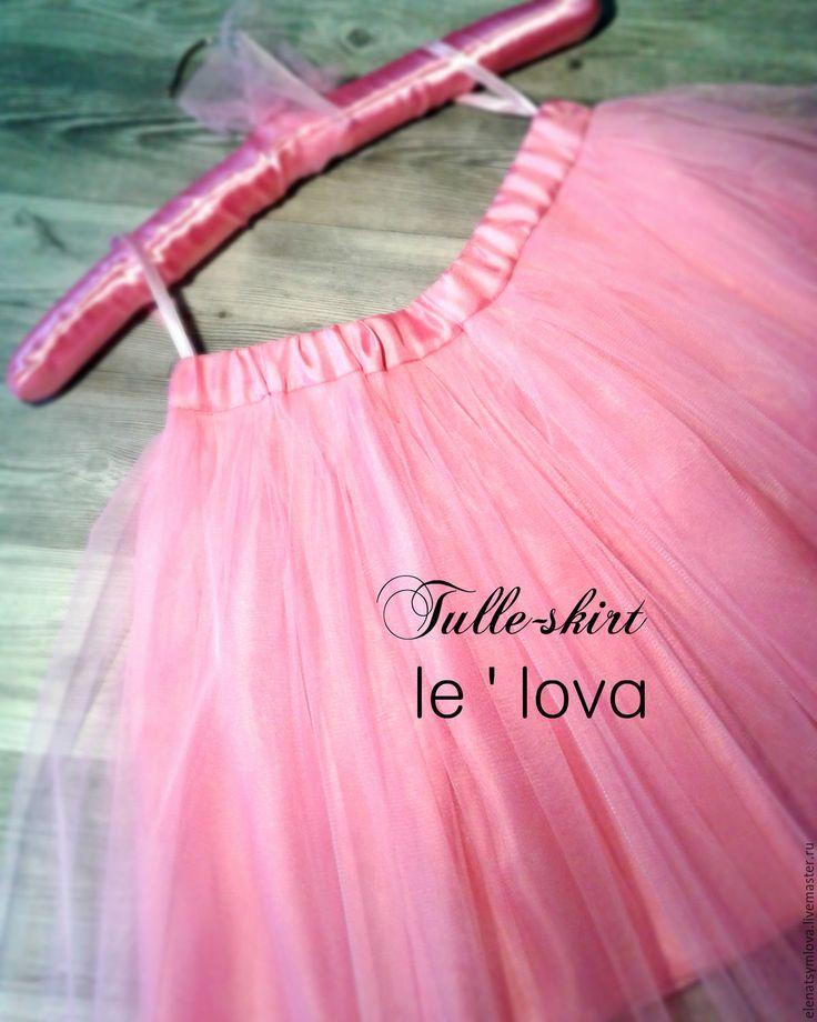 Купить Детская юбка из фатина цвет Фламинго - розовый, однотонный, юбка из фатина, балетная пачка