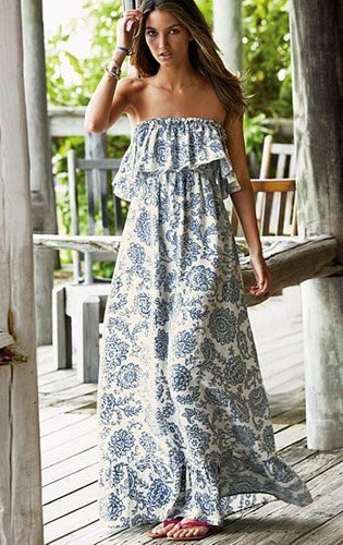 That would be SO easy to make.: Long Dresses, Outfits, Summer Dresses, Fashion, Beaches Dresses, Style, Victoria Secret, Summer Maxi Dresses, Summer Clothing