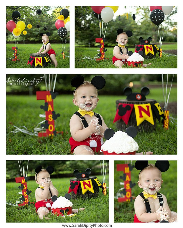 MICKEY MOUSE inspired cake smash outfit by Myhappylifeboutique