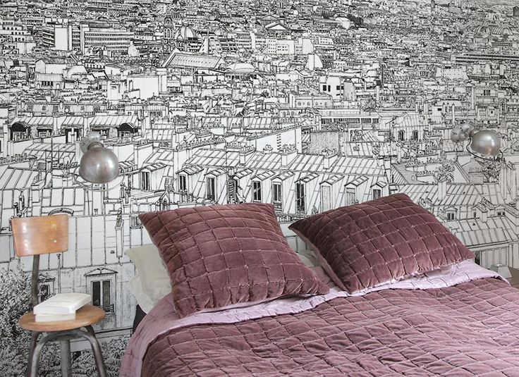 73 best papier peint original images on pinterest. Black Bedroom Furniture Sets. Home Design Ideas