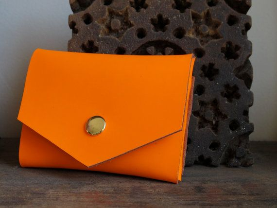 Neon Orange Envelope Wallet by Superfield on Etsy: Neon Parties, Etsy Orange, Colors Orange, Studs Wallets, Etsy Lifestyle, Envelopes Wallets, Neon Orange, Wallets Etsy, Orange Envelopes