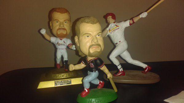 3 Mark McGwire St Louis Cardinal Figurines