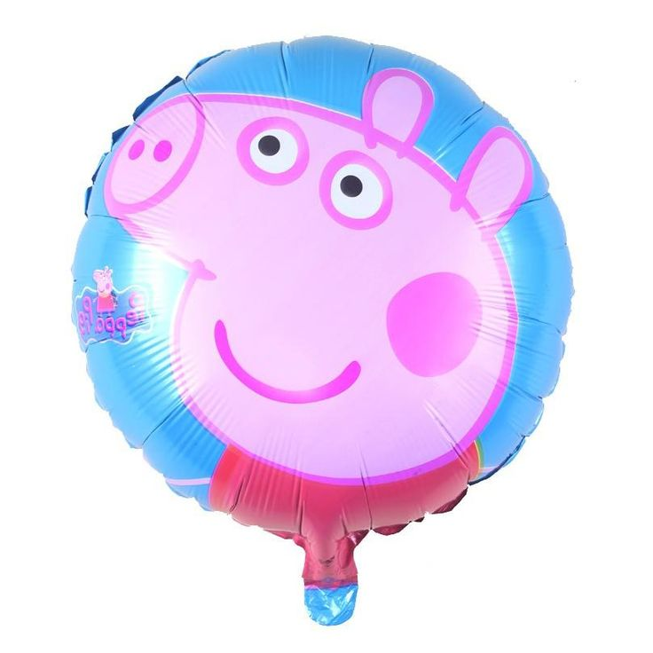 [Visit to Buy] George Mum Daddy Pig Pink Balloon, Pippa Pig Baby Birthday Balloon Toys Foil Globo Party Decoration #Advertisement