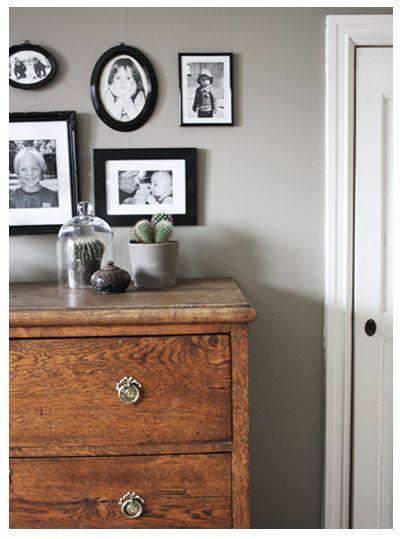 Grey wall color.