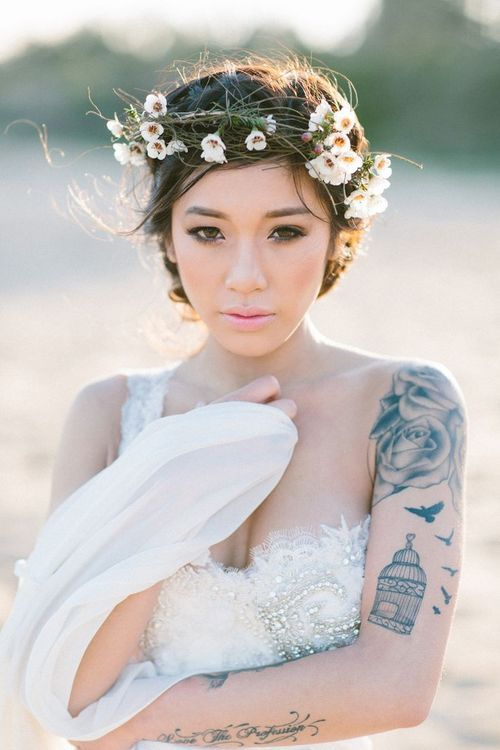 Wedding Hair, Flower Crowns, Weddings, Tattoos, Body Art, TattooS ...