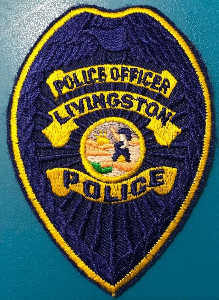 Livingston Merced County California Police Patch Police Merced County Police Patches