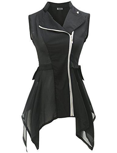 Black Chiffon Vest --- Chiffon Vest: Coolest Outerwear EVER | Our Daily Style http://spotpopfashion.com/wwf9
