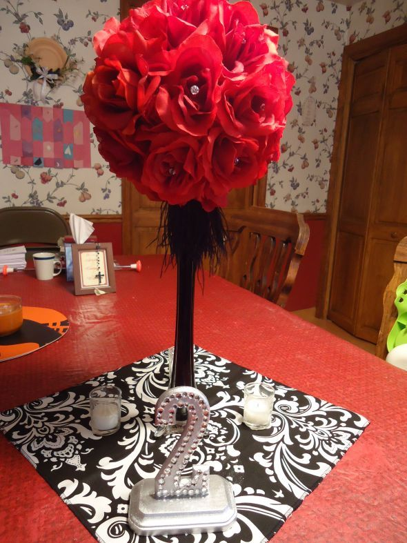 black white and orange center pieces my centerpiece mock up wedding black diy reception red. Black Bedroom Furniture Sets. Home Design Ideas