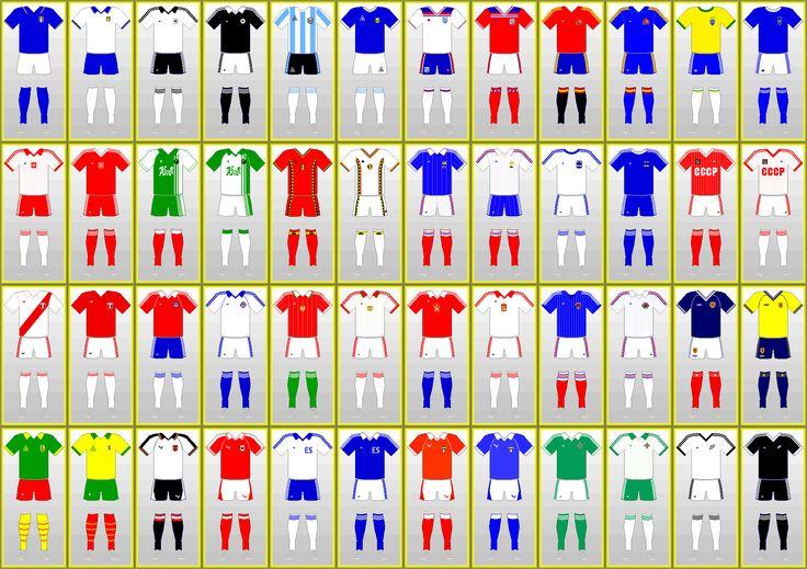 Uniformes Copa Mundial de Futbol: ESPAÑA 1982