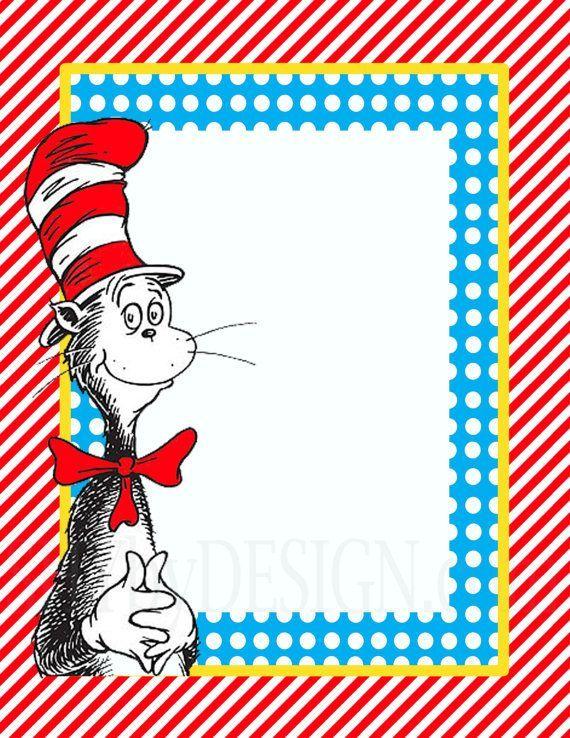 Dr Seuss Border Clip Art