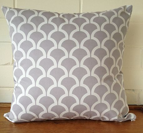 Grey Billow Double Sided Cushion Cover by Black Eyed Susie