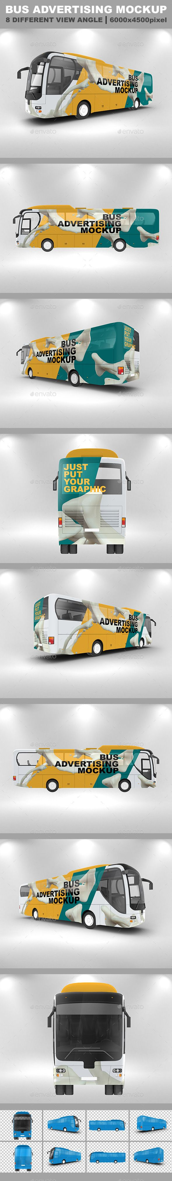 Bus Advertising Mockup Template #mockup #design Download: http://graphicriver.net/item/bus-advertising-mockup/12606783?ref=ksioks