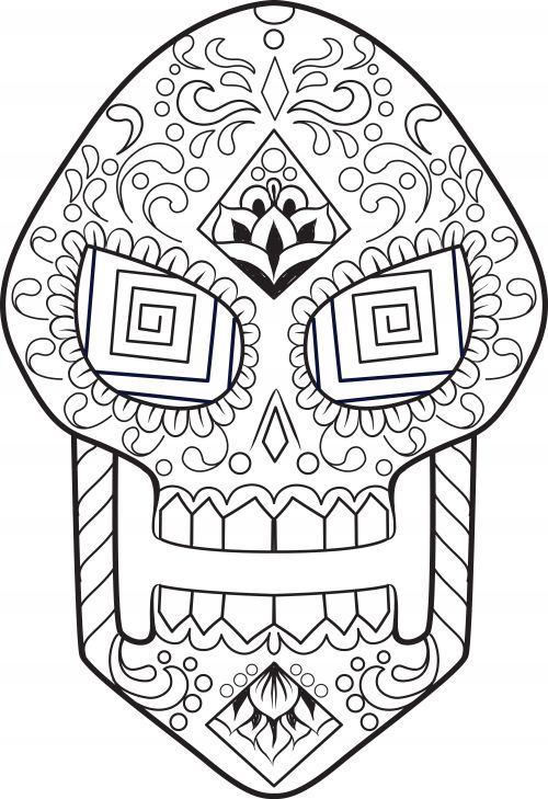 Learning about different cultures and traditions is important in every students' development. Use this free, printable coloring sheet as a way to transition into a lesson about Dia de los Muertos, or the Day of the Dead. Have students color in this sugar skull image with whatever colors they see fit, and then use them to decorate the classroom or study area. Even older students will enjoy and benefit from coloring these intricate designs.  #coloringpage #advancedcoloring, #sugarskull