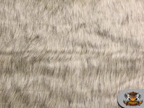 Faux fur long pile lion beige fabric 64 quot wide sold by the yard