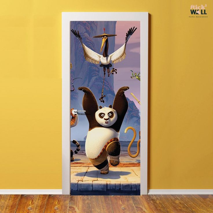 Kung Fu Panda - Door sticker decal for decoration of kids bedroom from stick2wall.com Стикер за врата Кунг-фу Панда