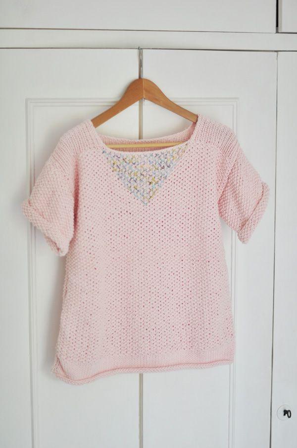 Mon petit pull d'été est fini ! | Julypouce tricote