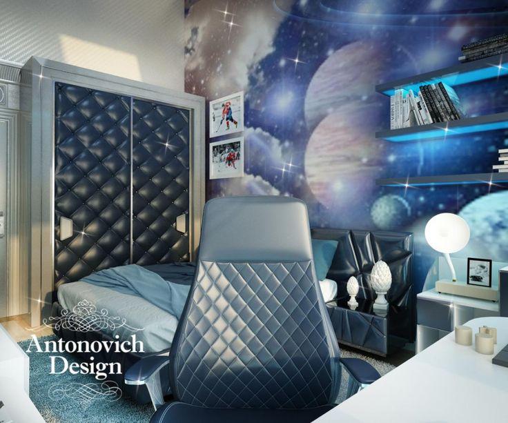 Детская Комната в Космическом Стиле: Главное в дизайне детских комнат от Luxury Antonovich Design – это индивидуальный подход к каждому ребенку. Дизайн интерьера учитывает психологические особ