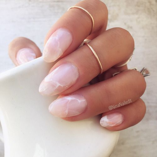 DIY Rose Quartz Nails