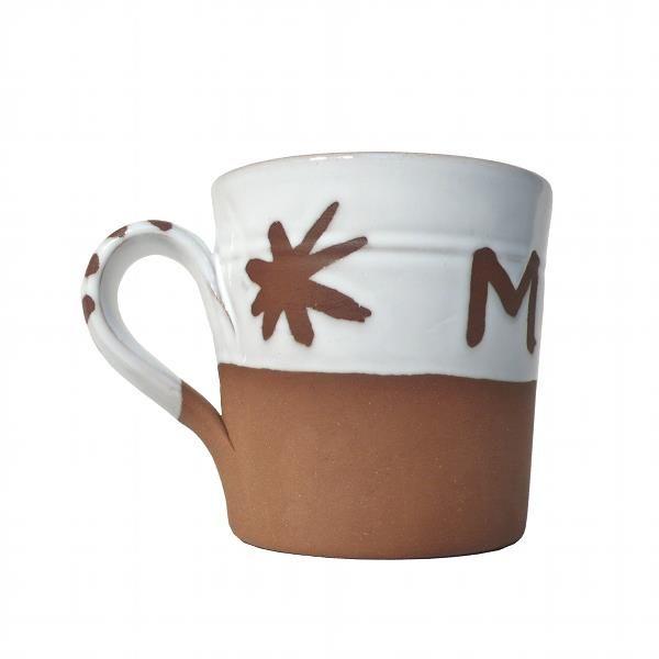 Personalised MAM / MUM Mug Side Detail. Stephen Pearce Pottery.