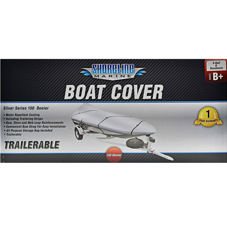 Shoreline Marine Boat Cover-Silver Ply B+