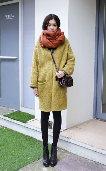 Cozy up with the perfect coat and scarf. -- The Power of Pinning!