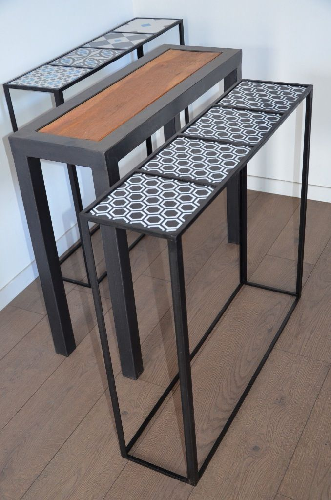 25 best ideas about console bois metal on pinterest - Petite console meuble ...