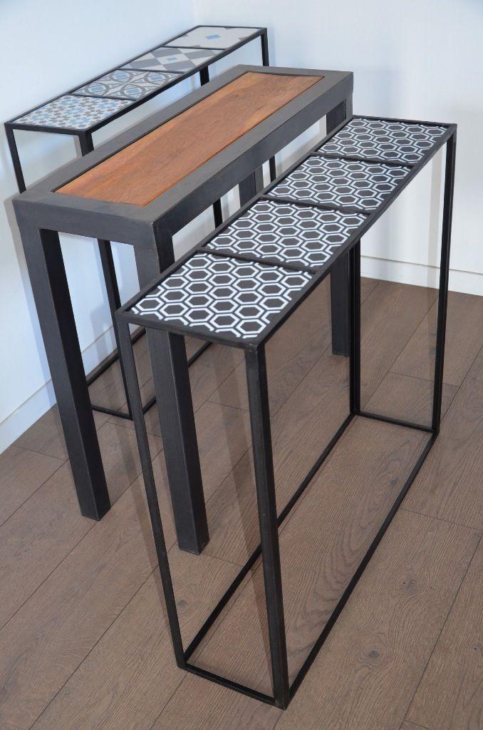 Meuble d'entréeHewel mobilier réalise des meubles d'entrée et des meubles d'appoint sur-mesure. Découvrez à travers cette sélection des modèles de console bois métal, de banc industriel, de porte manteau vintage ou de petit meuble de rangement en métal …