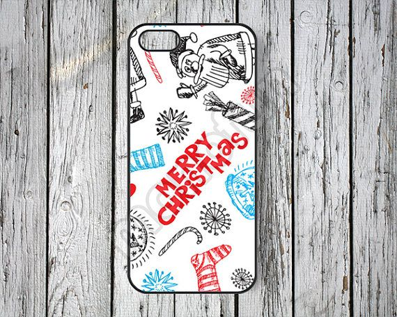 Christmas iPhone 5s case iPhone 5 case Santa Claus iPhone 5c case Christmas gift iPhone 4s case iPhone 4 case Christmas iPhone case -187 on Etsy, $6.99