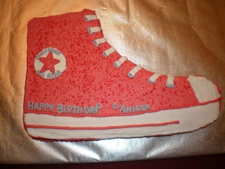 Converse cake--made it :)                                                                                                                                                                                 More