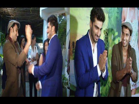Ranveer Singh and Arjun Kapoor in nautanki mood at the screening of FINDING FANNY.