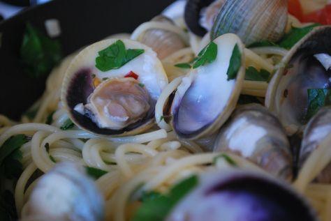 Spaghetti Vongole #clams #seafood #Jamie oliver