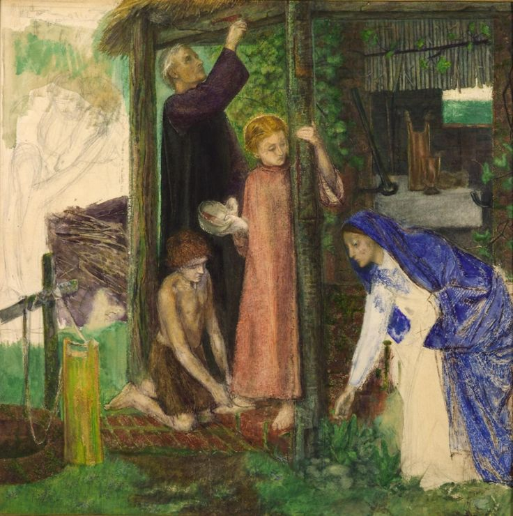 Dante Gabriel Rossetti, The Passover in the Holy Family, 1856, Watercolor on paper, 4à,6 x 43,2 cm, Tate Gallery, London