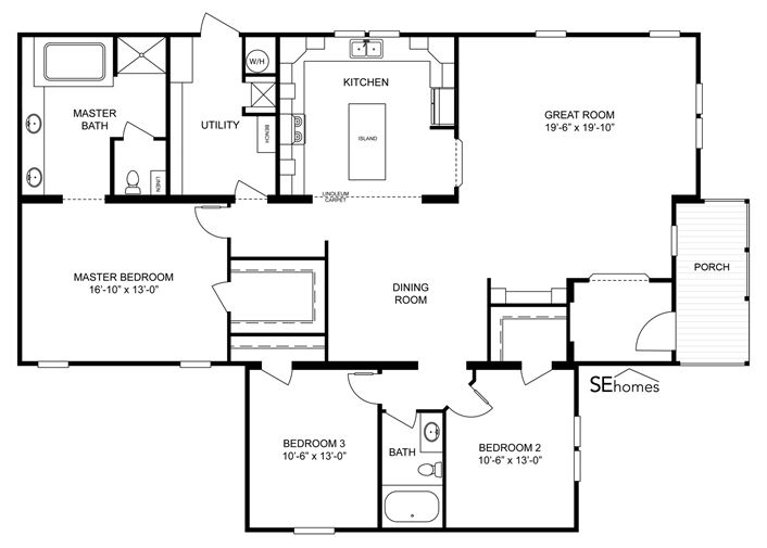 Clayton homes home floor plan manufactured homes modular homes mobile home dream home - Dream home floor plan model ...