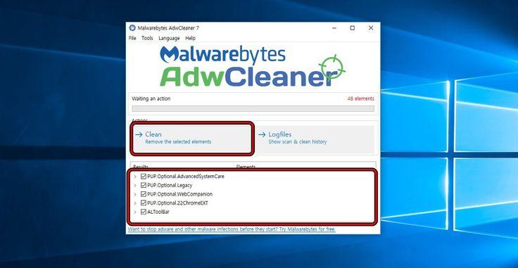 바이러스 프로그램은 누구나 쓰실텐데요. 애드웨어(악성코드)가 잘 제거가 되지 않을때가 있습니다. 이럴때는 다양한 프로그램을 알아보실텐데요. 그 중에서 Adw Cleaner이라는 프로그램을 이용하시면 탐지가 되서..
