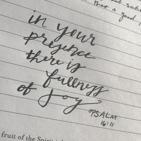 Psalm 16:11 in your presence there is fullness of joy bible verse