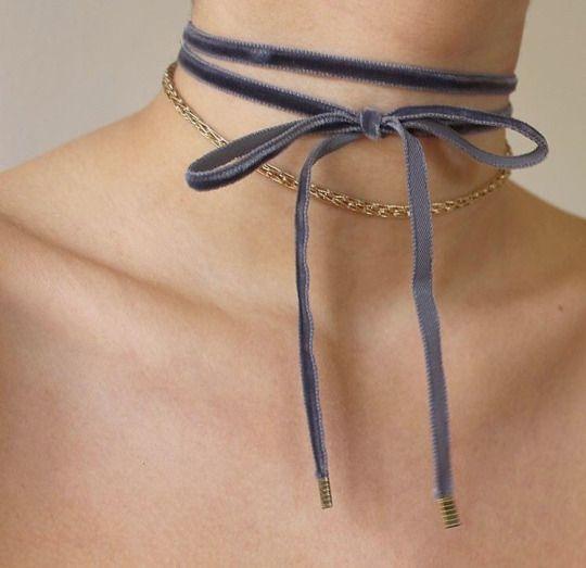 The Sapphire Velvet Double Tie Choker | https://www.instagram.com/p/BF1wV_pNDGI/?taken-by=ventronechronicles