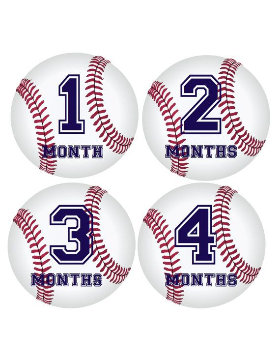 Baby Boy Monthly Onesie Stickers...Baseball...Sports...Favorite Baby Shower Gift, Photo Prop...Fast Shipping