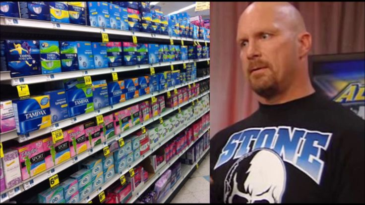 Steve Austin on Being Made to Buy TAMPONS For his Wife