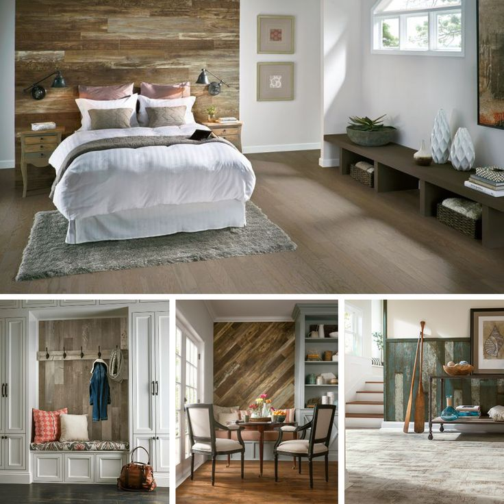 Wood Feature Accent Wall Ideas Using Flooring: 17 Best Ideas About Laminate Flooring On Walls On