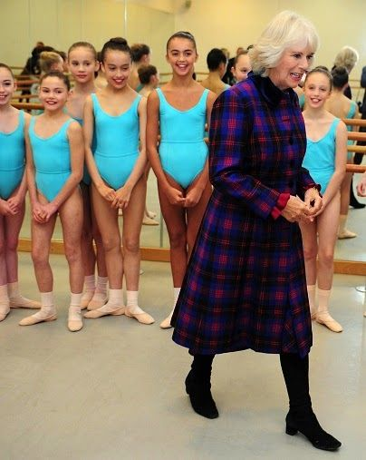 Camilla, Duchess of Cornwall meets students during a tour of Elmhurst School of Dance on 25.11.2014 in Birmingham, England