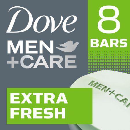 Dove Men+Care Extra Fresh Body and Face Bar, 4 oz, 8 Bar