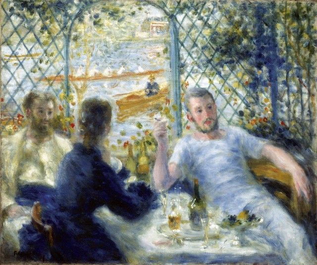 Lunch at the Restaurant Fournaise (The Rowers' Lunch), Pierre-Auguste Renoir, 1875.