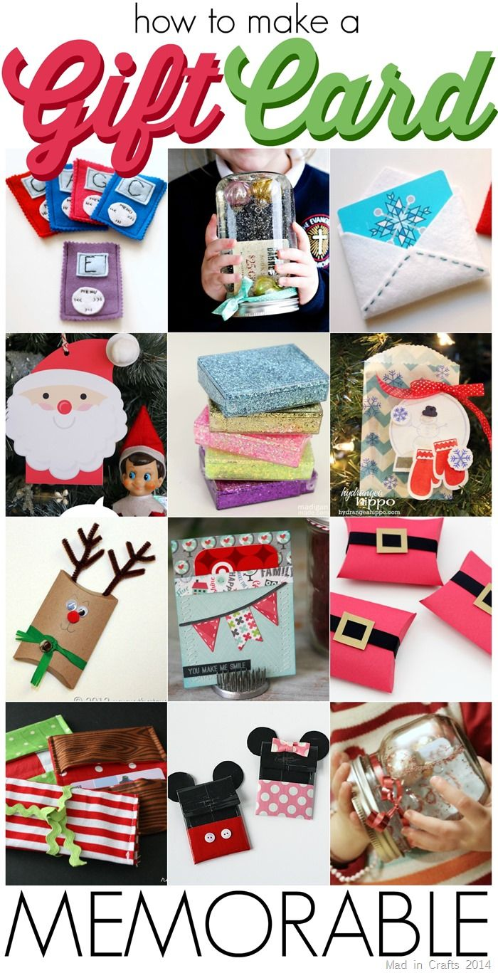 20+ Ways to Make a Gift Card Memorable - Mad in Crafts